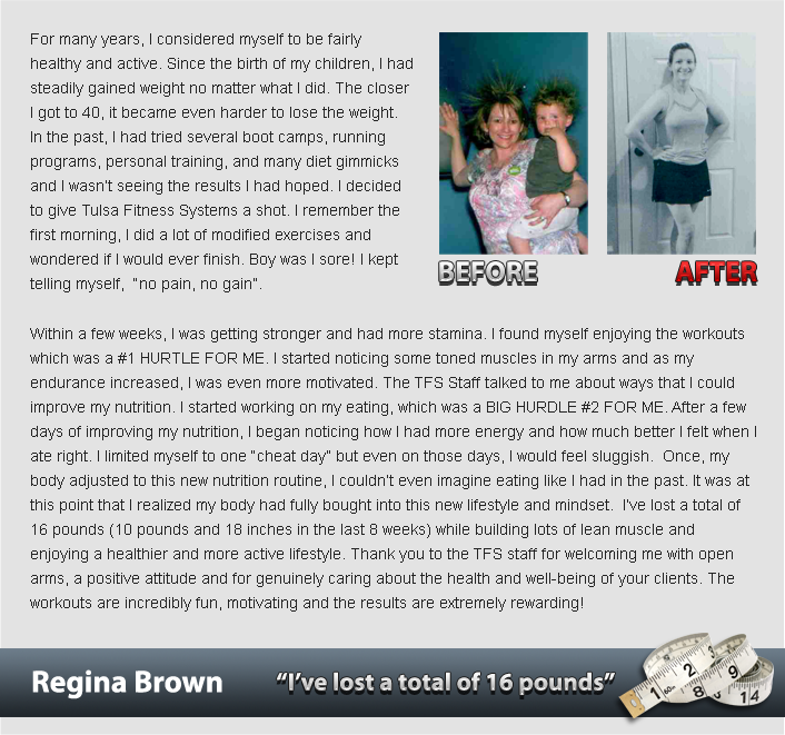 ch testimonial regina brown Success Stories